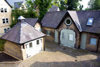The Coach House aerial view