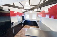 Modern, fully equipped kitchen at the Coach House