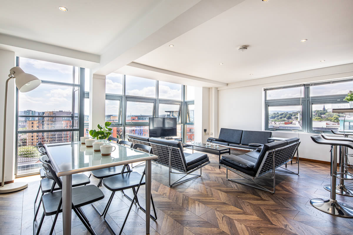Portland towers huge open plan living spaces