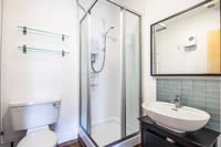 Modern bathrooms at portland tower